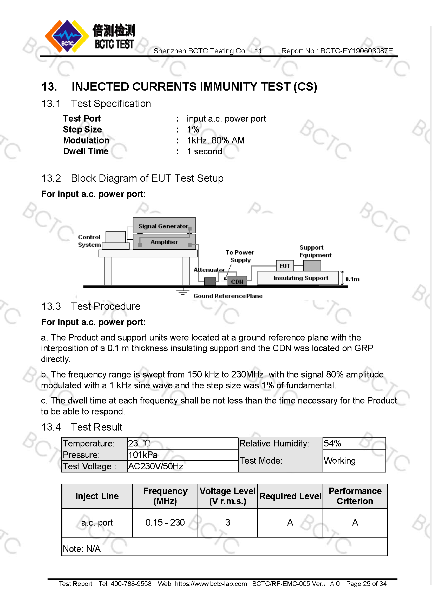 Tri-Oxy COMPLETE EMC Test Report Page 25