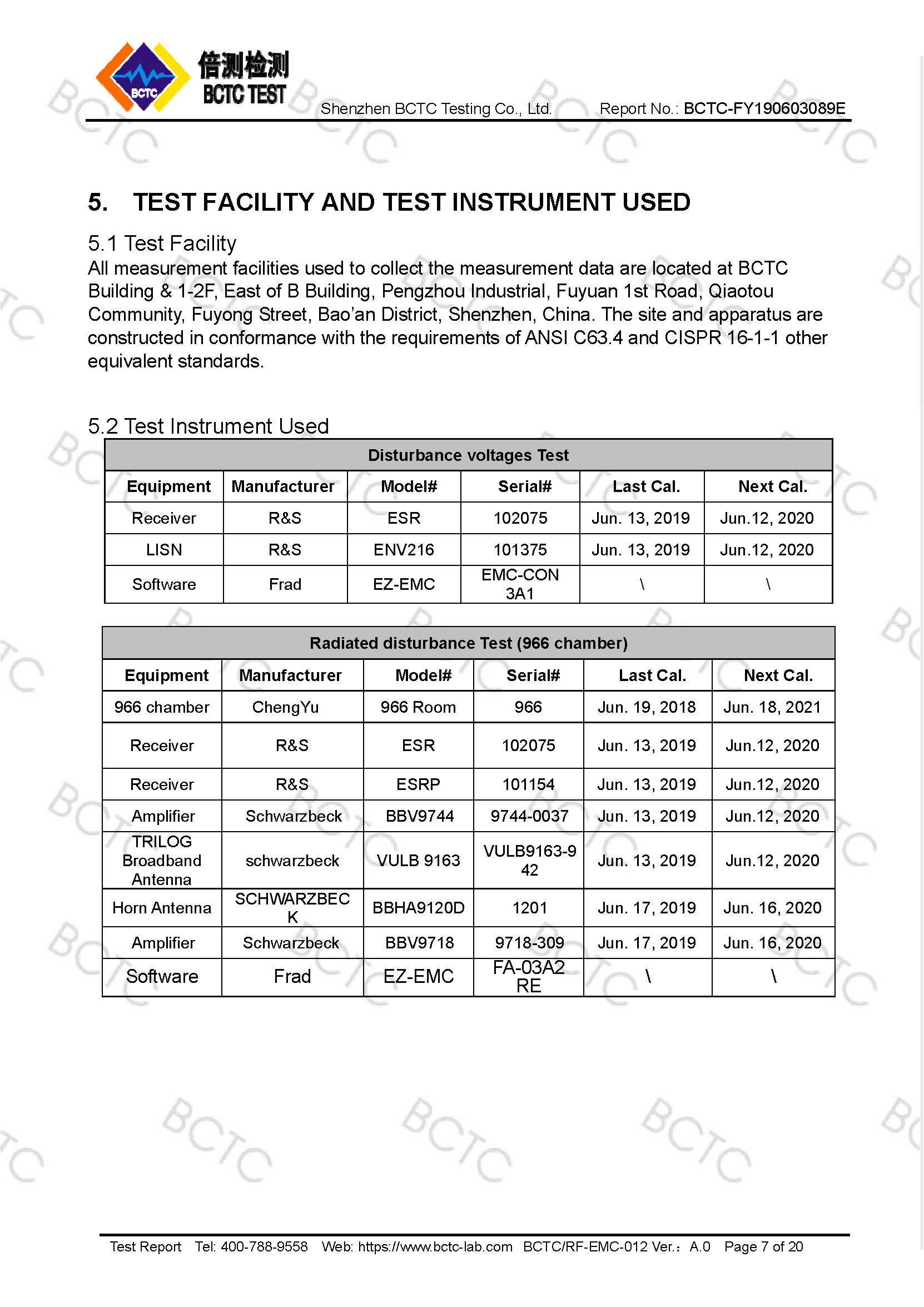 Tri-Oxy COMPLETE FCC Test Report Page 7