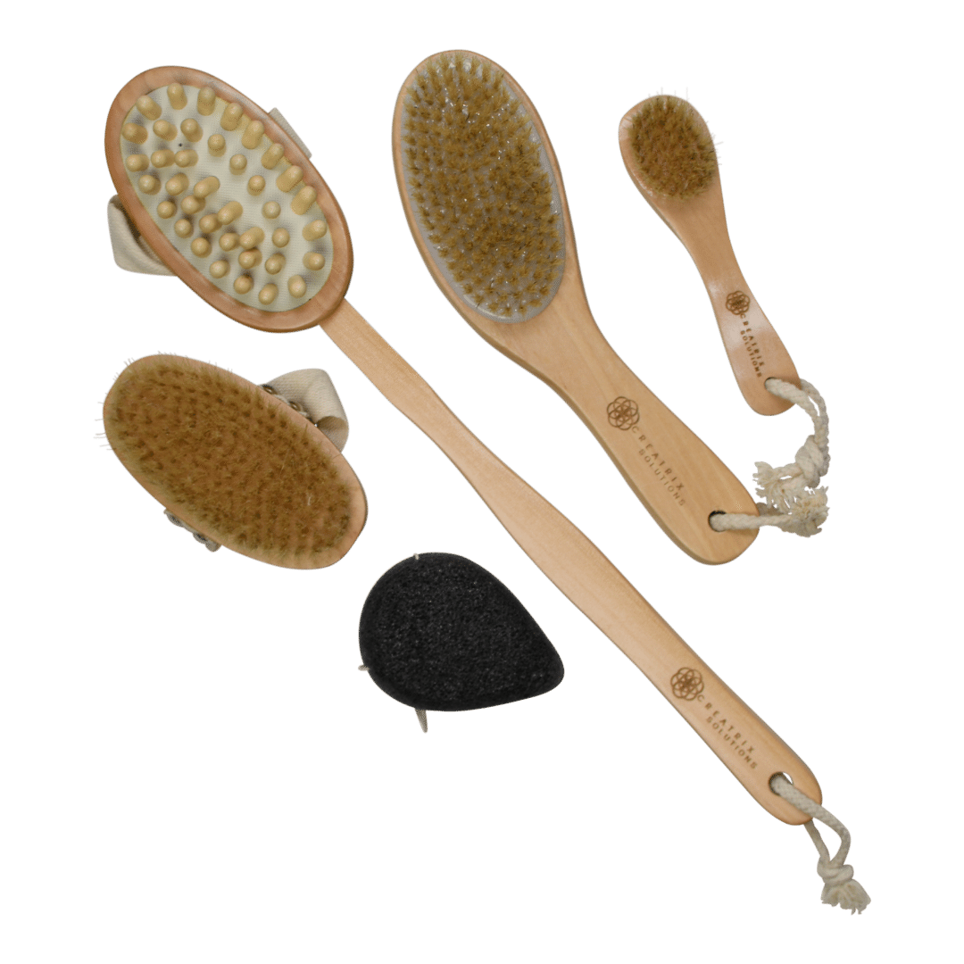 Wooden Bamboo Dry Skin Body Brushes