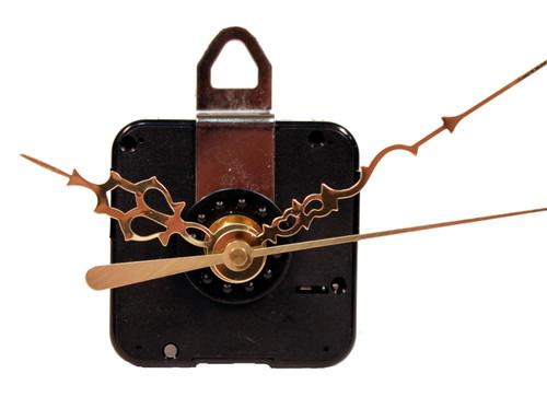 Creative Hobbies Quartz Clock Motor Movement, C91MQL, 3/4 Inch Max Dial Thickness, 15/16 Inch Threaded Shaft Length, Complete Kit
