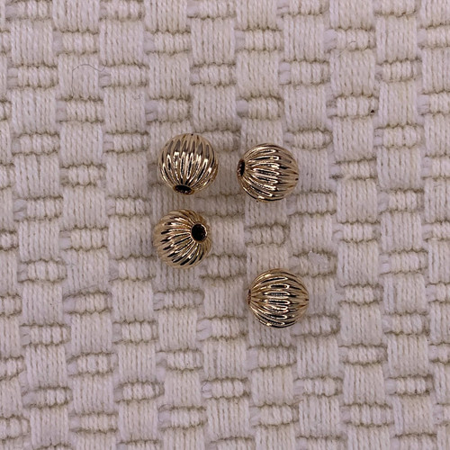6mm 14k gold filled corrugated beads