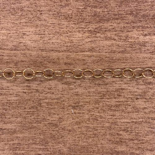 14k Gold Filled 5mm Round Link Chain