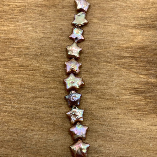 Taupe Cultured Freshwater Pearl Star Bead