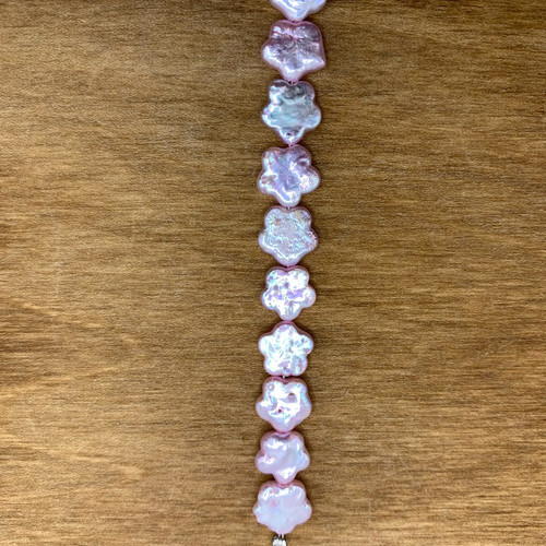 Pink Cultured Freshwater Pearl Flower Bead