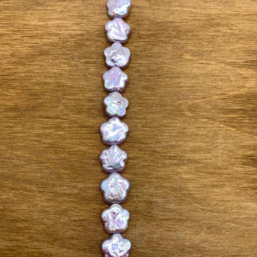 Lilac Cultured Freshwater Pearl Flower Bead