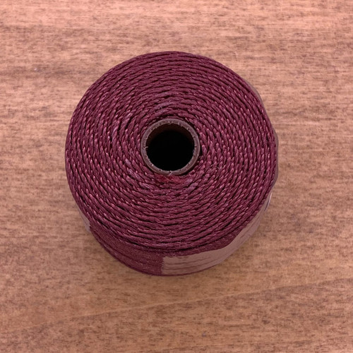 S-lon bead cord burgundy