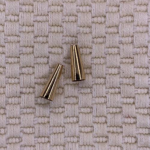 12x4mm 14k gold filled cone caps