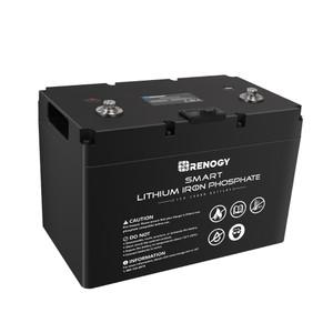 12V 100Ah intelligente Lithium-Eisen-Phosphat-Batterie