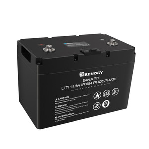 Lithium LiFePO4 Batterie 12V 100Ah Smart BMS mit Bluetooth