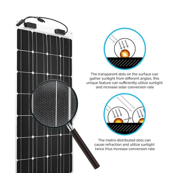 Flexibles Solarmodul Monokristallin 100W 12V