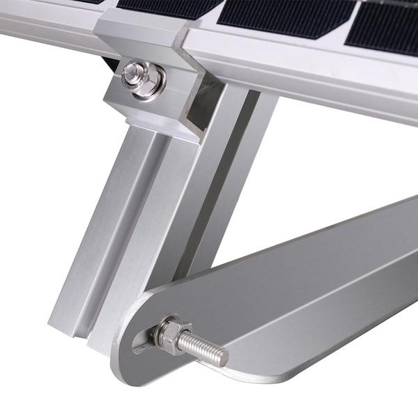 Mast-Montageset für 100W Solarmodul Halterung, Aluminium