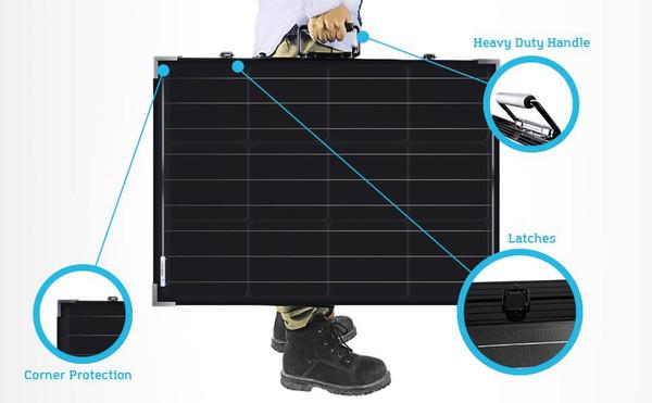 Solarkoffer monokristallin 100Wp 12V ohne Laderegler