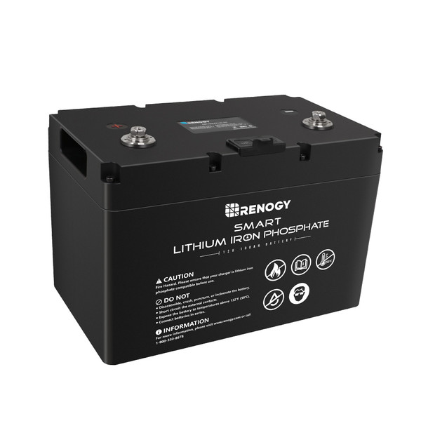 Lithium LiFePO4 Batterie 12V 100Ah Smart BMS mit Bluetooth