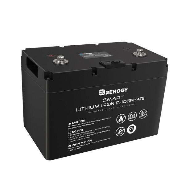 Lithium LiFePO4 Batterie 12V 100Ah Smart BMS