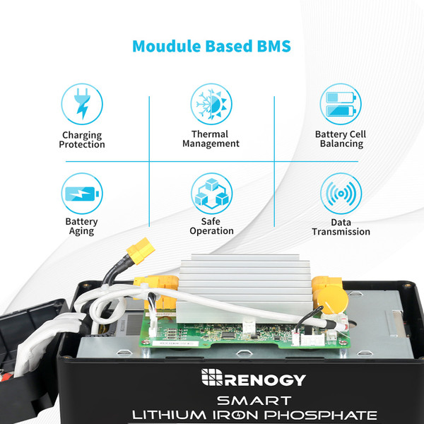 Lithium LiFePO4 Batterie 12V 100Ah Smart BMS mit Selbstheizung-Funktion