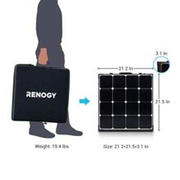 100 Watt Eclipse  Solar Koffer mit Regler