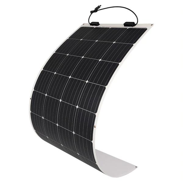175W flexibles Solarpanel mit 12V 100Ah Li Batterie Komplettset