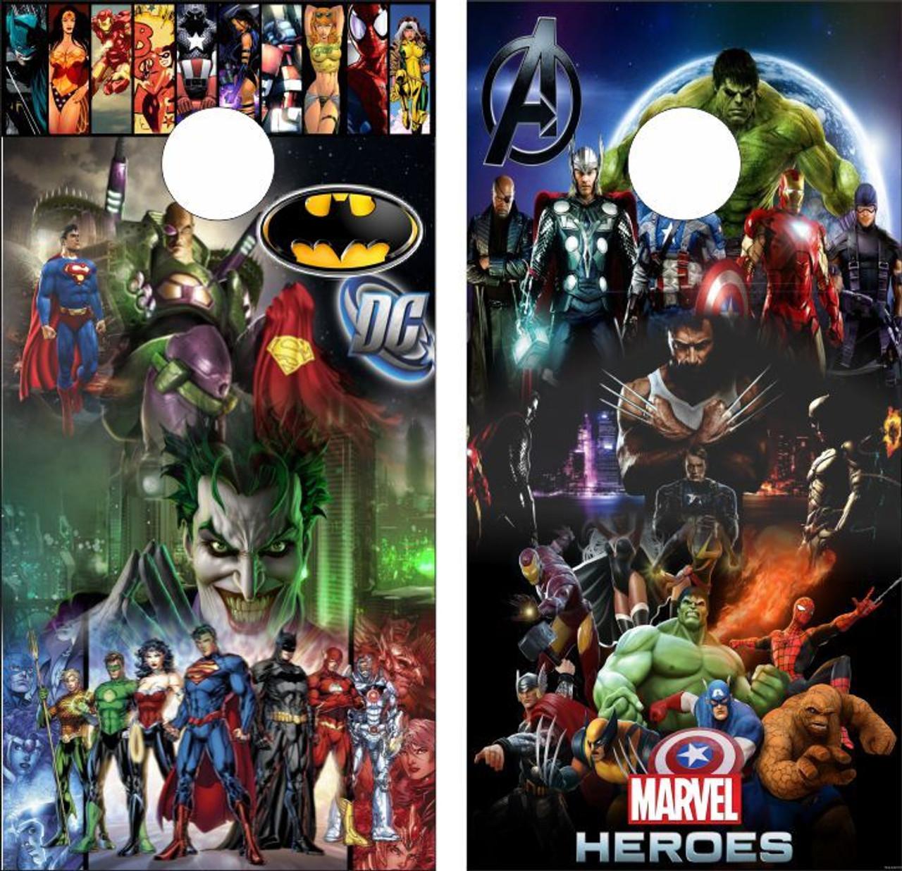 Marvel vs DC Cornhole Wraps