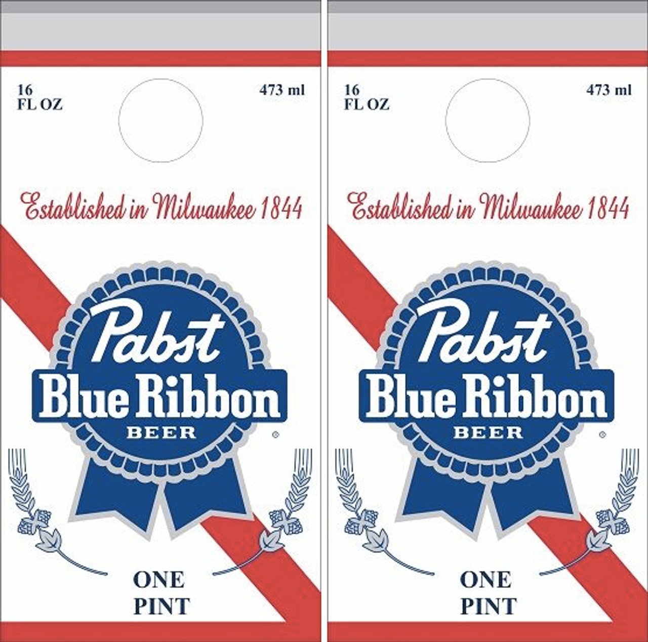 Pabst Blue Ribbon Grafitti Cornhole Skin Wrap Decal With Laminate