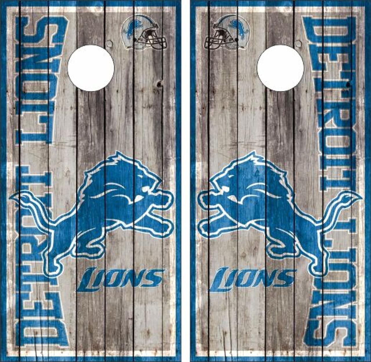 two prints SET OF 8 DETROIT LIONS CORNHOLE BAGS