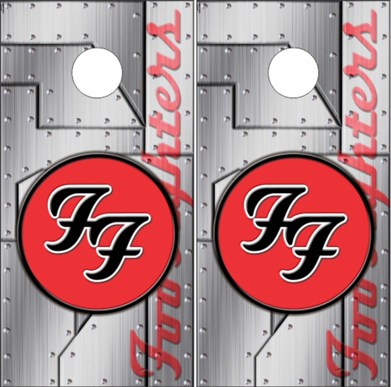 Foo Fighters Cornhole Wraps Custom Cornhole Llc