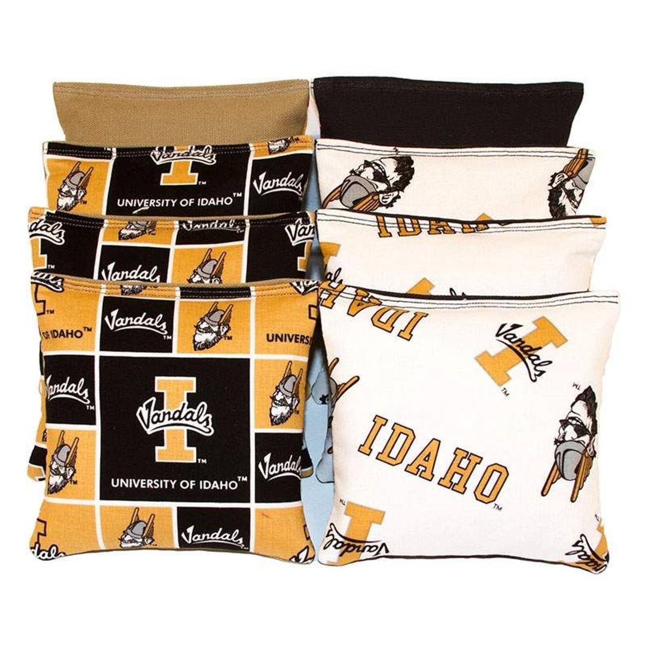 New! BackYardGamesUSA Idaho Vandals 8 Cornhole Bean Bags//BAGGO TOSS Game Handmade