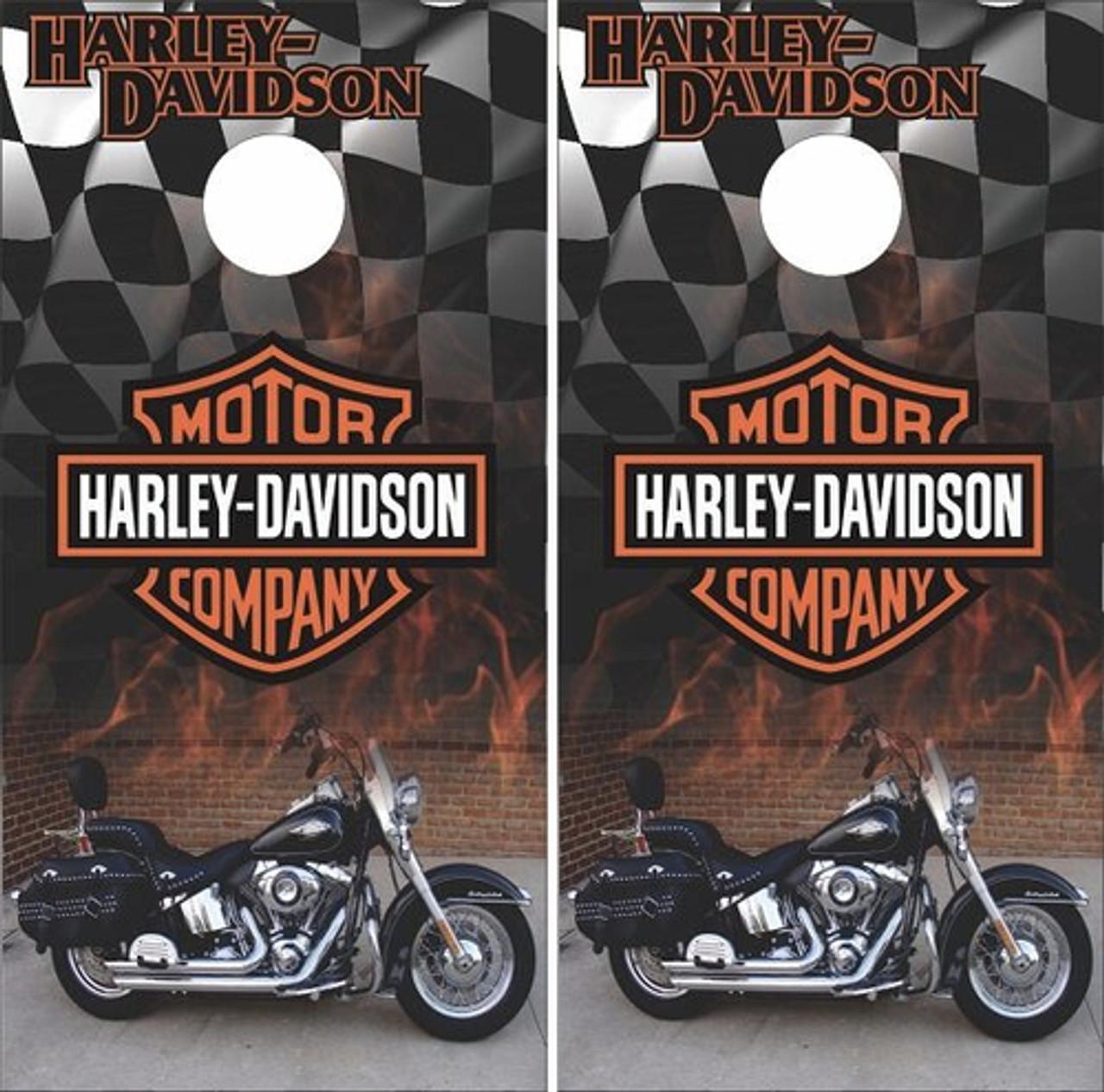 2 Sizes Many Options Available Harley Davidson Black Cornhole Set