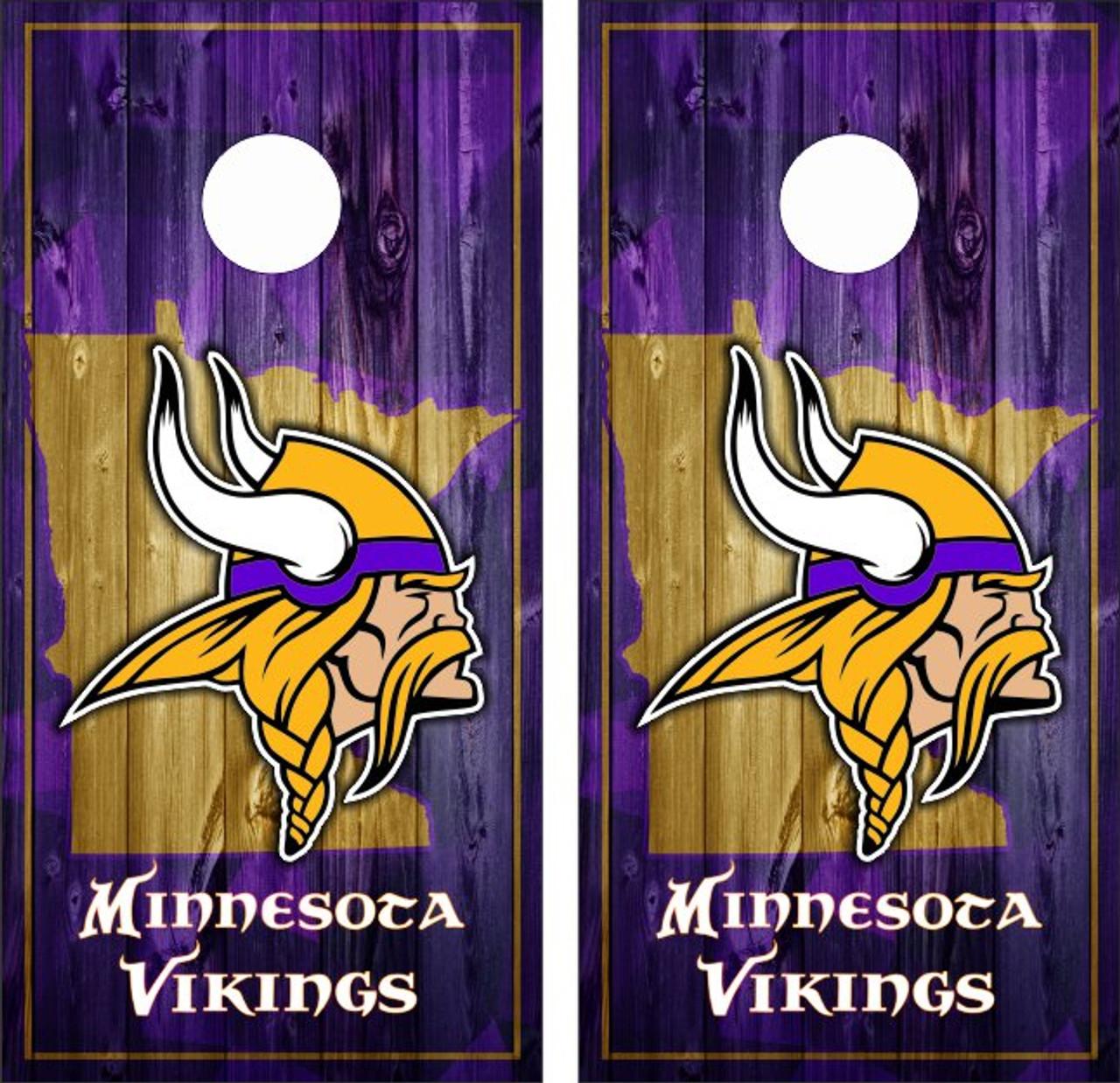 uk availability 2472e e5369 Minnesota Vikings Version 5 Cornhole Wraps