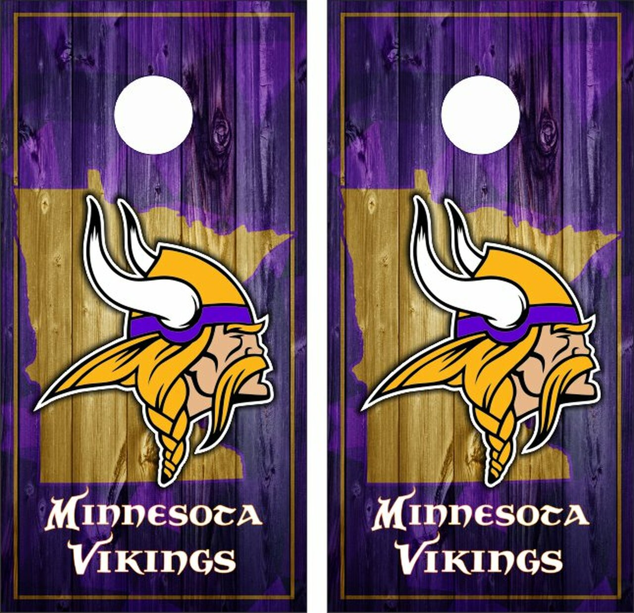 uk availability 18af5 99517 Minnesota Vikings Version 5 Cornhole Wraps