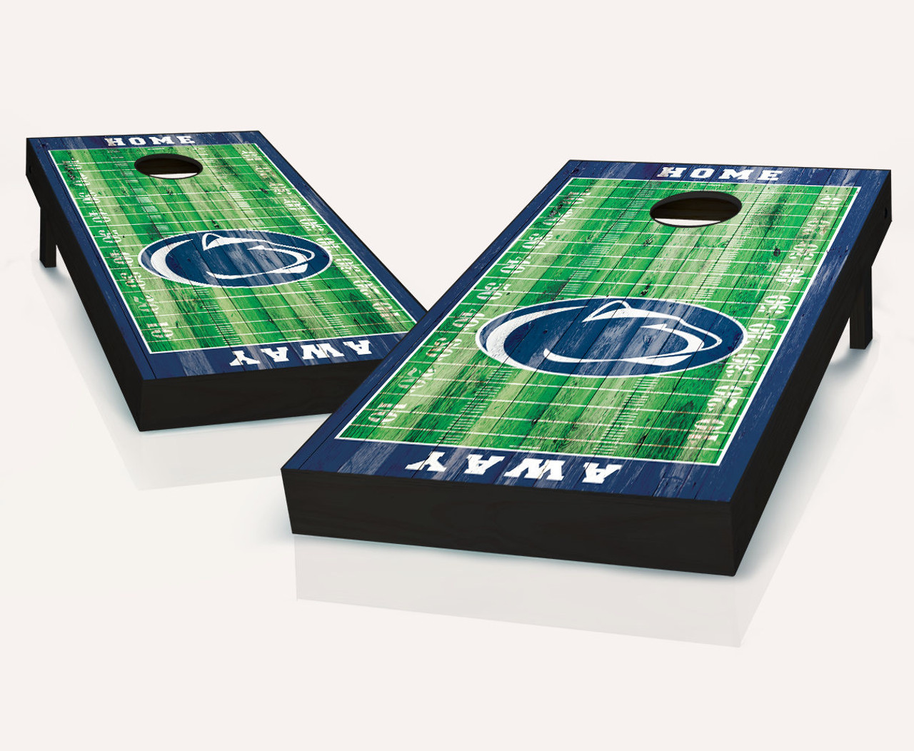 Pair of Board Decals 2 Penn State Nittany Lions Cornhole Wraps FOOTBALL