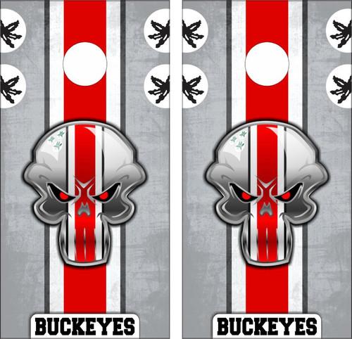 Ohio State Buckeyes Cornhole Wraps - Custom Cornhole, LLC