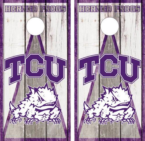 TCU1 TCU cornhole board or vehicle decal s