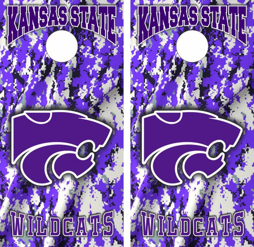 Cornhole Board Wrap Skins KSU Kansas State Wildcats