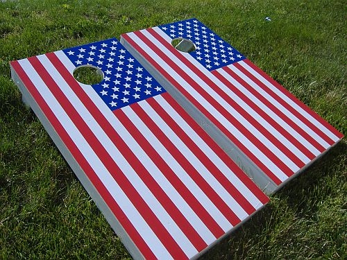 Flag Cornhole Sets