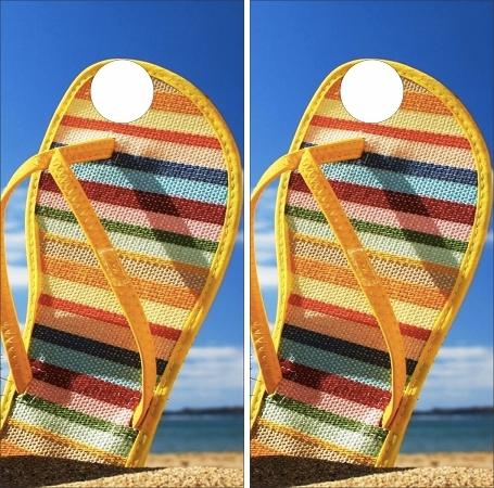 Beach Cornhole Wraps