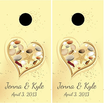 Wedding Cornhole Wraps