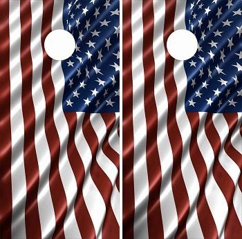 Flag Cornhole Wraps