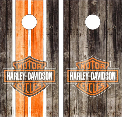 Harley Davidson Wood Cornhole Wraps Custom Cornhole Llc