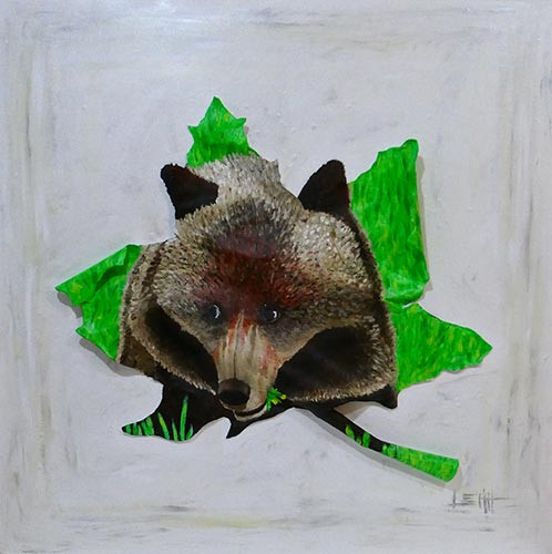 Grizzly-Bear-Cub-Eating-Dandelions-In-Banff-animal-painting