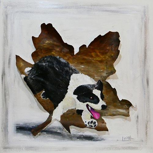 Stampede-Stock-Dog-animal-painting