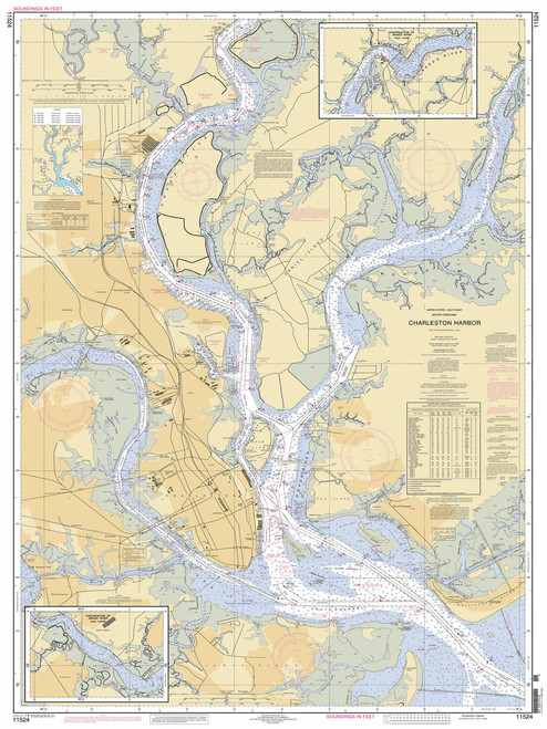 Navigational chart of the City of Charleston.
