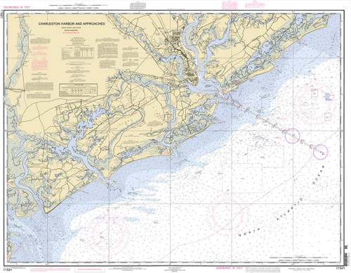 Chart of Charleston Harbor and its approaches.