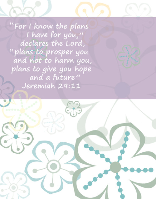 """Encouragement from Scripture with beautiful designs and backgrounds. 22"""" x 28"""""""