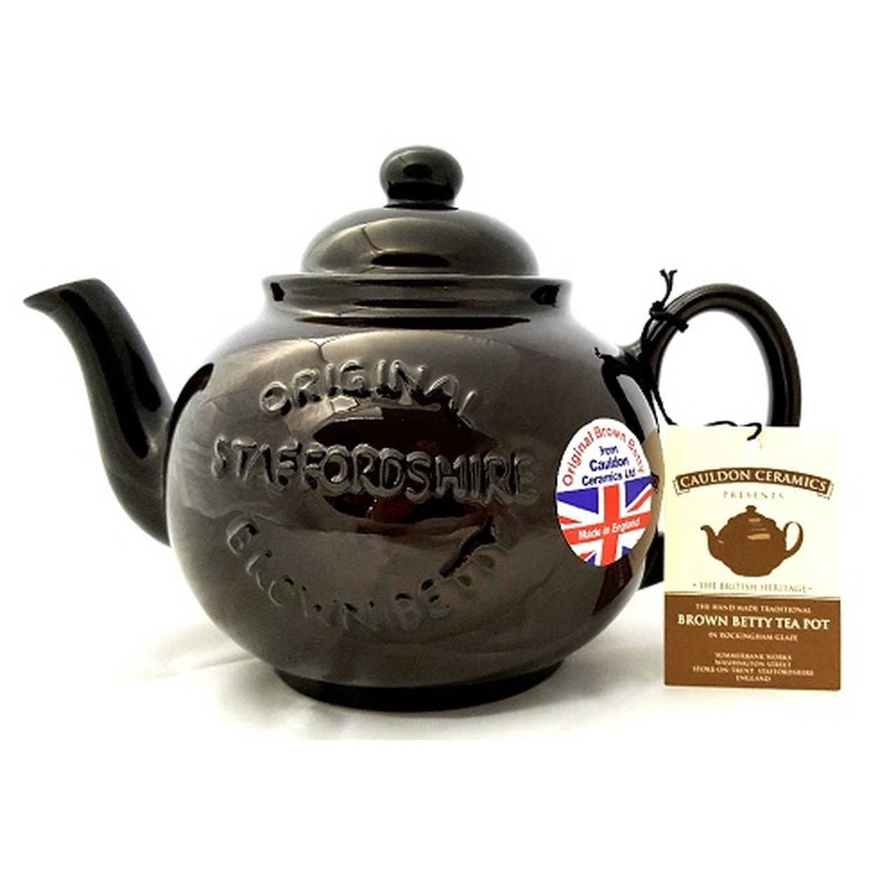 Brown Betty 6 Cup Teapot Brown with Logo