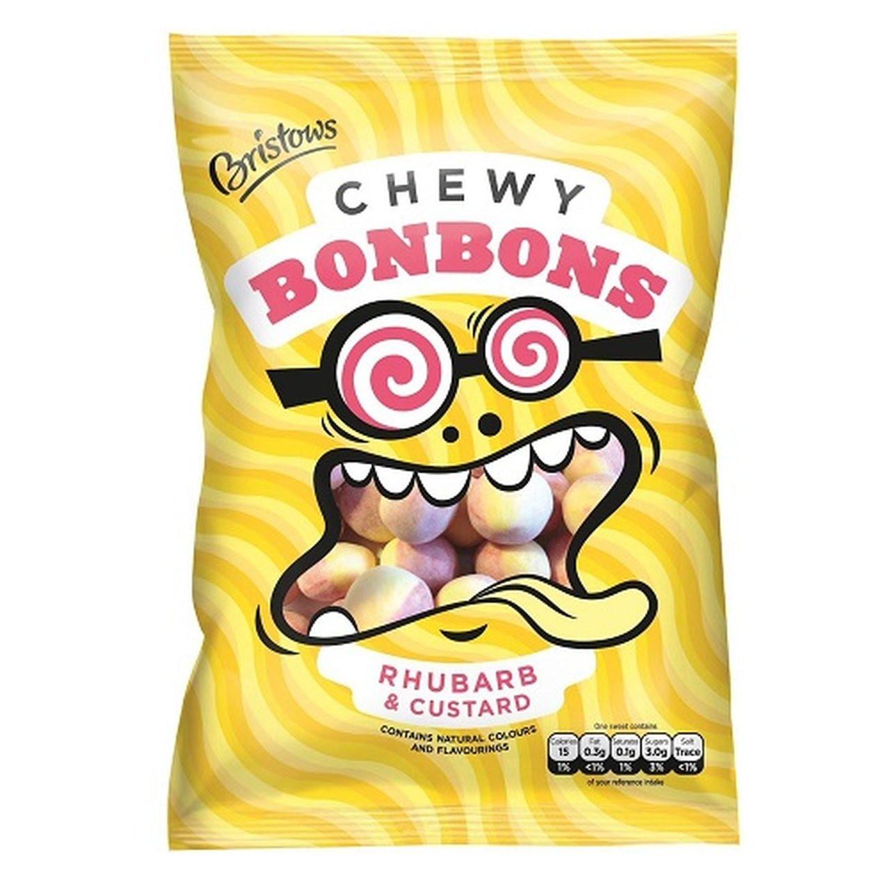 Bristow's Chewy Bon Bons - Rhubarb & Custard, 150g