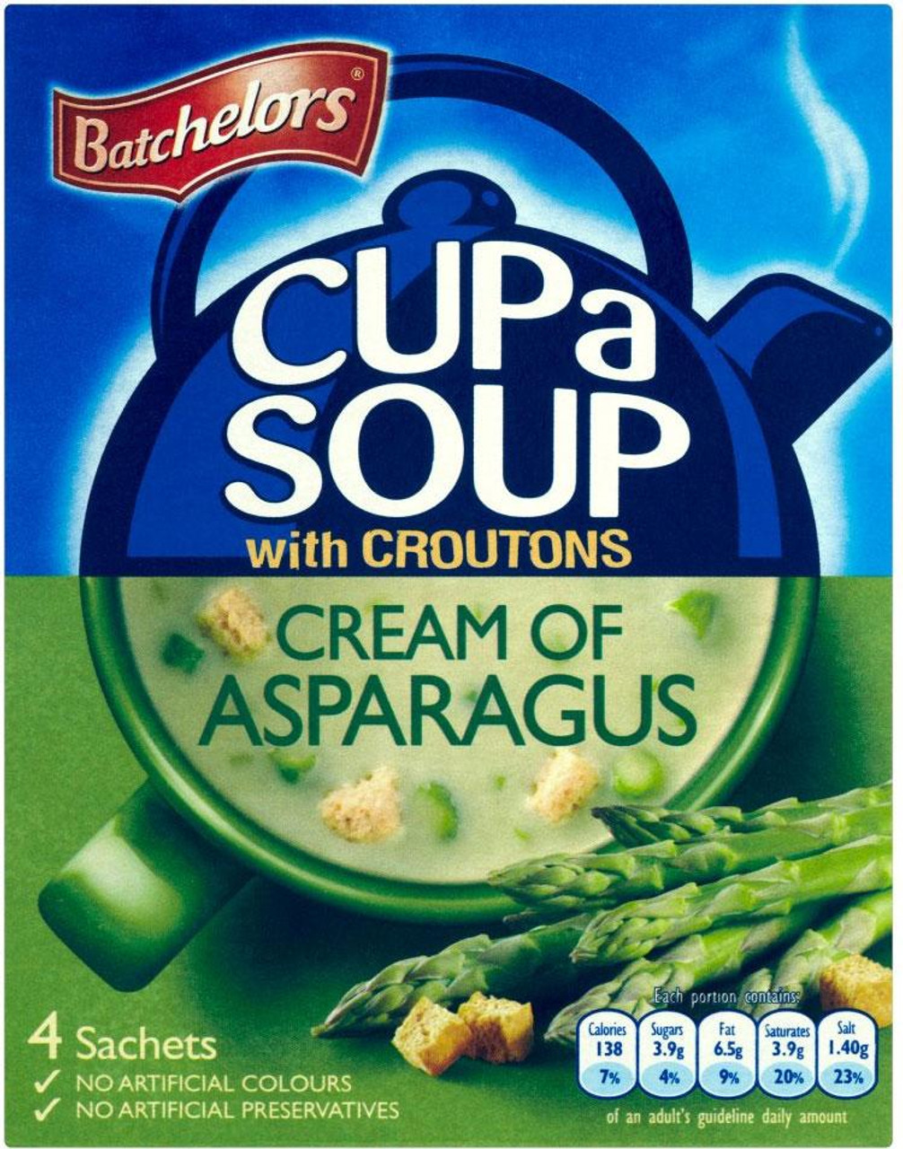 Batchelors - Cup A Soup with Croutons, Cream of Asparagus 4pk