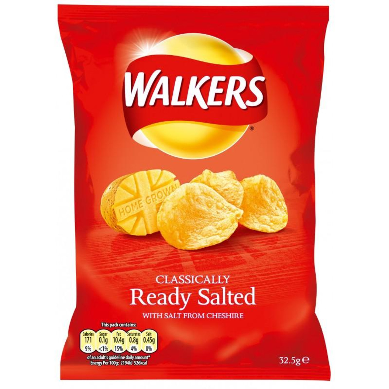 Walkers Crisps - Ready Salted, 32.5g
