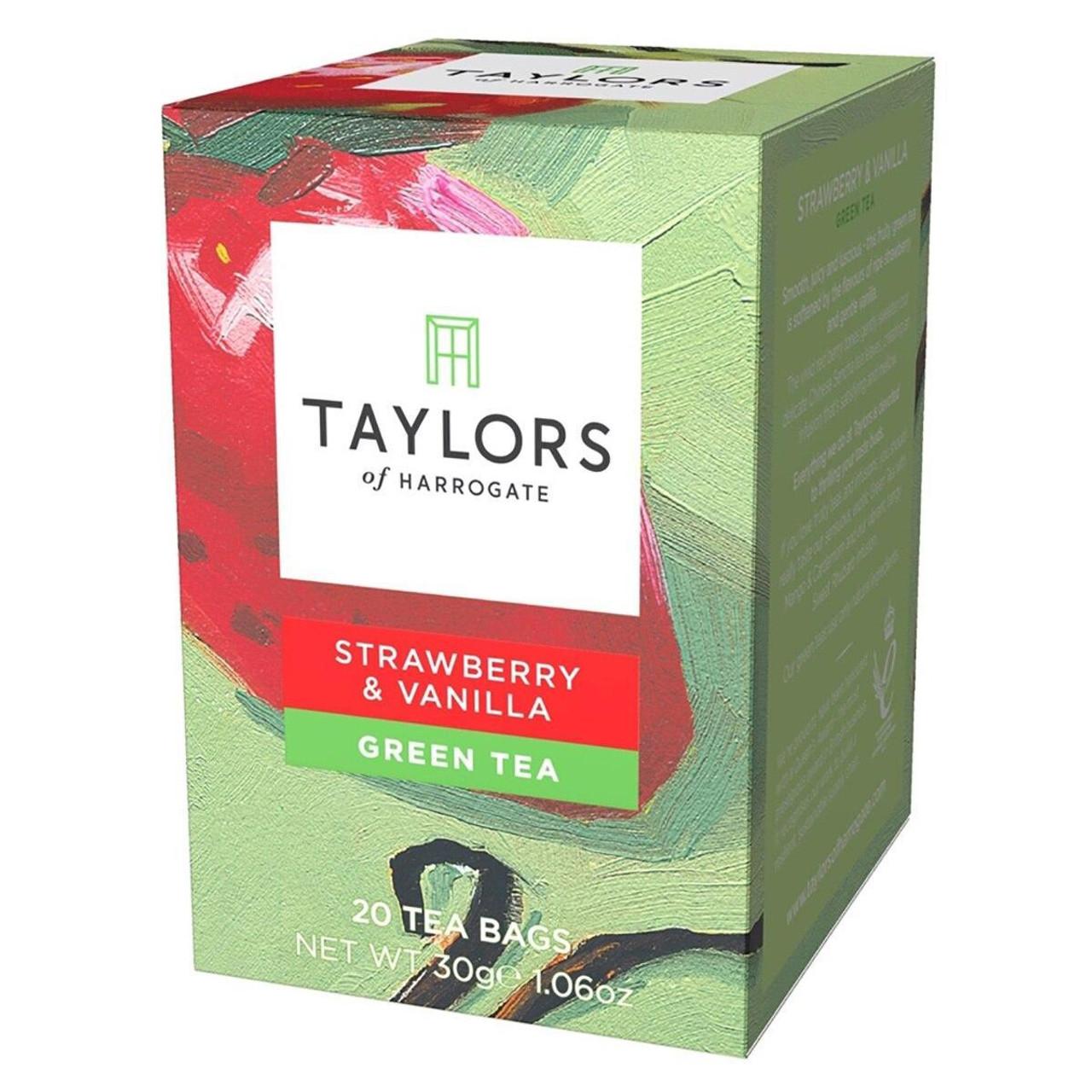 Taylors of Harrogate - Strawberry & Vanilla Green Tea - 20 Wrapped Tea Bags
