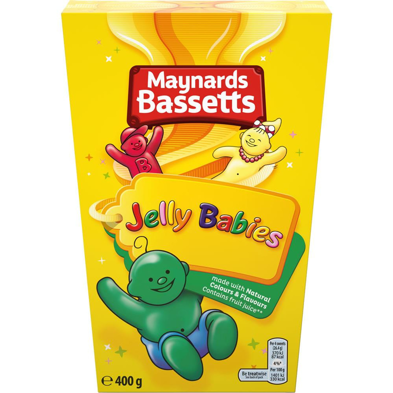 Maynards Bassetts - Jelly Babies, 400g carton