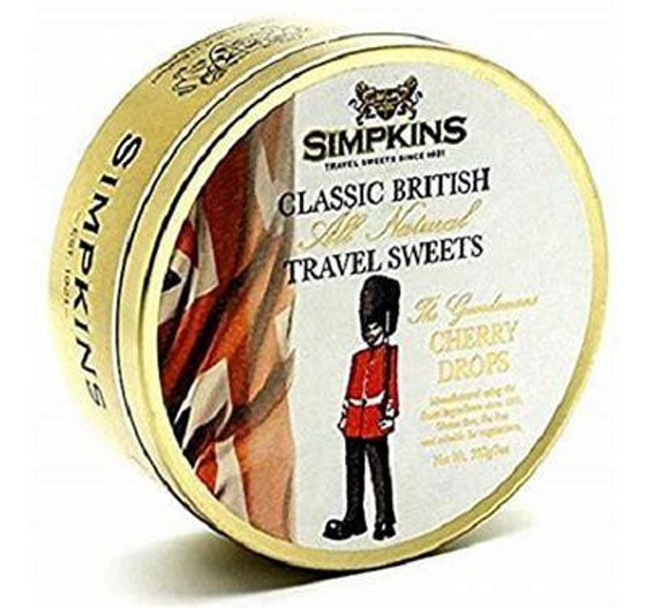 Simpkins Guardsman Cherry Travel Sweets Tin